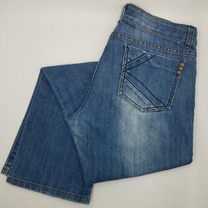 Kardashian The Kim Whiskered Distressed Jeans